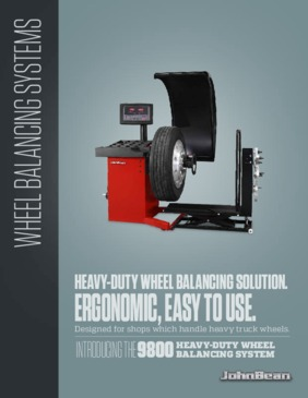 9800 Wheel Balancer Brochure
