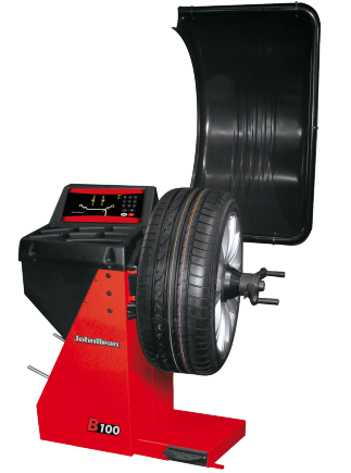 The John Bean B100 is a digital wheel balancer for cars, light trucks and motorcycles that combines the expected John Bean brand accuracy with a small footprint and value for money.