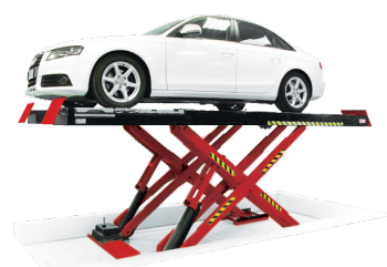 The John Bean dual revenue car scissor lift can be configured as an ATL/MOT lift, a dedicated alignment lift, or have both options to provide more opportunities to workshops.