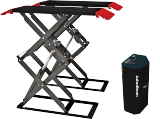 The JBSL 3000 is a double scissor (full height) short sill car lift designed for surface-mounted installation.