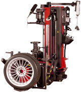 The John Bean Quadriga automatic tyre changer, with its quick procedures and controlled power and accuracy, guarantees optimum results because all operations are highly efficient and labour-saving.