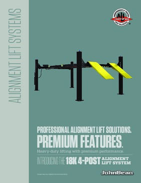 18k Four Post Automotive Lift Brochure