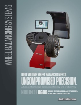 B600 Series of Wheel Balancers Brochure